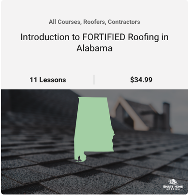 Introduction to FORTIFIED Roofing in Alabama Course image