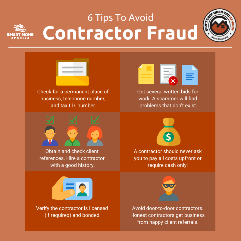 Six Tips to Avoid Contractor Fraud