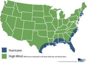 Fortified risk map Hurricane or high wind