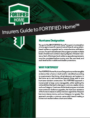 Insurers Guide To Fortified Cover Image